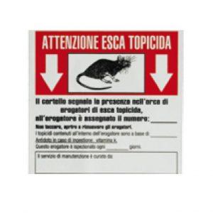 Etichetta bianca e rossa segnalazione