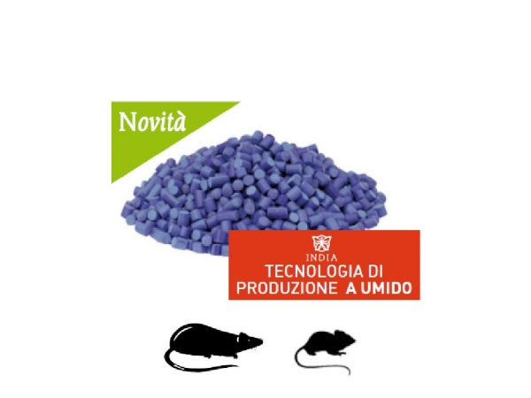 FACORAT Esca rodenticida aromatizzata pronta all'uso in pellet